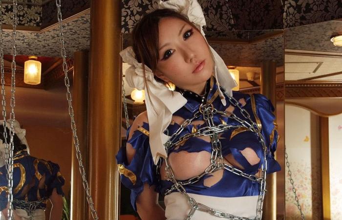 【コスプレSMエロ画像】折檻しているイメージが凄いwセクシーコスプレ美女を拘束拷問中www 001