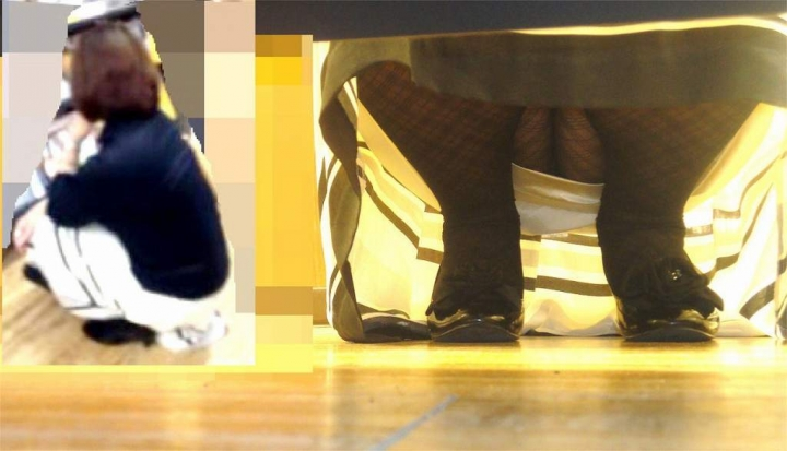 【パンチラエロ画像】パンツ見たさに今日も冷やかしw浮きスジも見逃さない棚下からパンチラwww 11