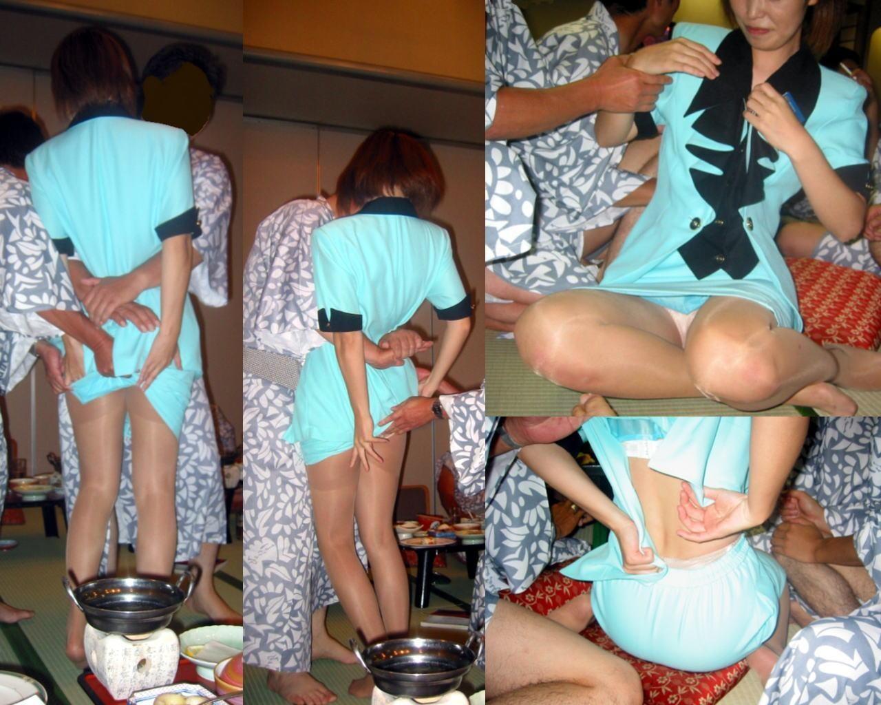 【素人エロ画像】オサーン悪ノリしすぎwピンクコンパニオンを呼んで爛れまくった宴会の実態www 10