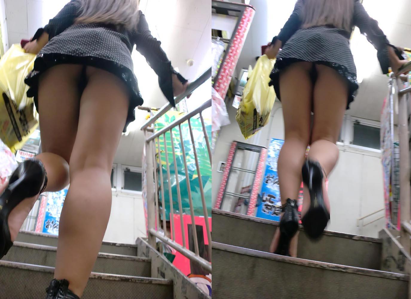【ミニスカエロ画像】美脚とパンツに需要ある限り不滅!ミニスカ女子のチラ見えエロスwww 07