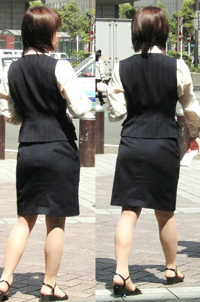 【OLエロ画像】決まってパンパンなタイト尻w見とれてしまう街角OLの下半身www 05