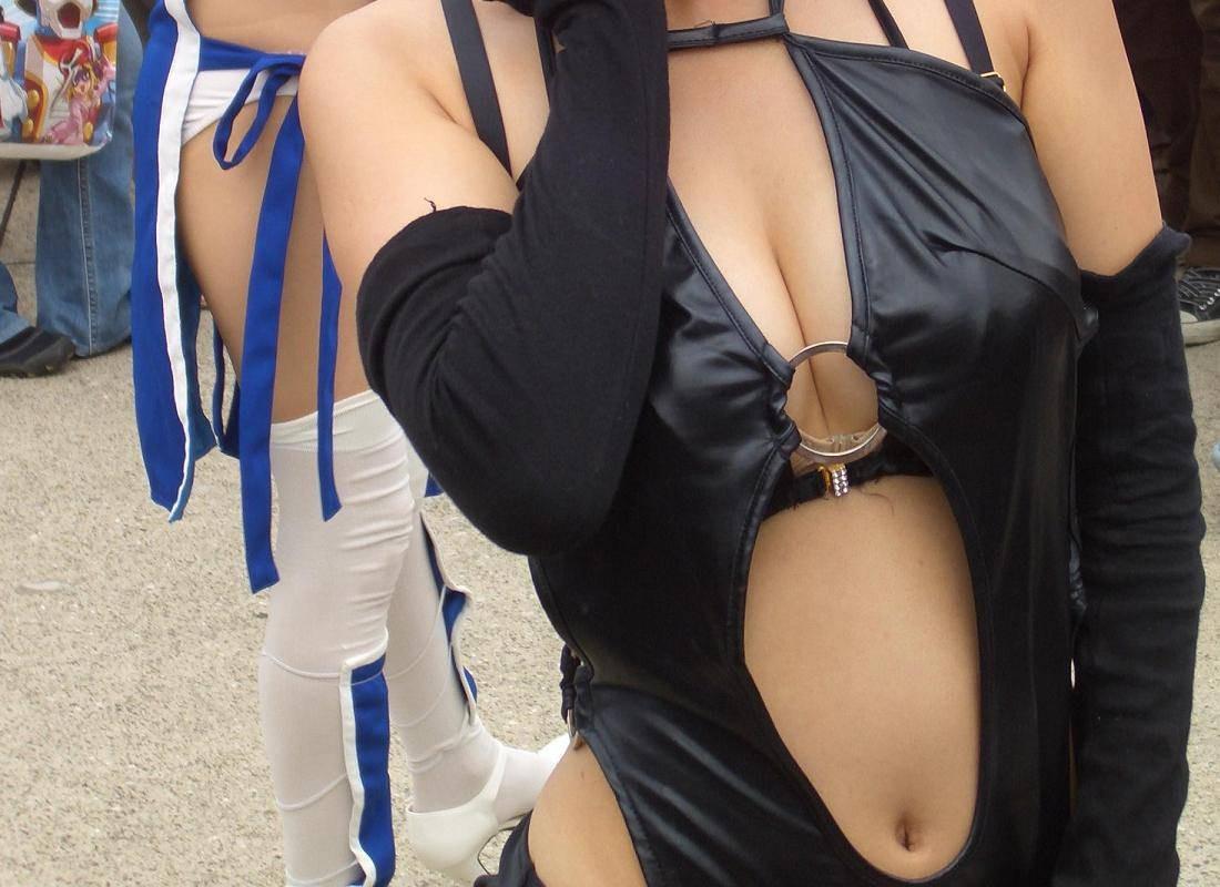 【コスプレエロ画像】巨乳ちゃんには過激に決めて欲しいw乳強調のコスプレ姿www 18
