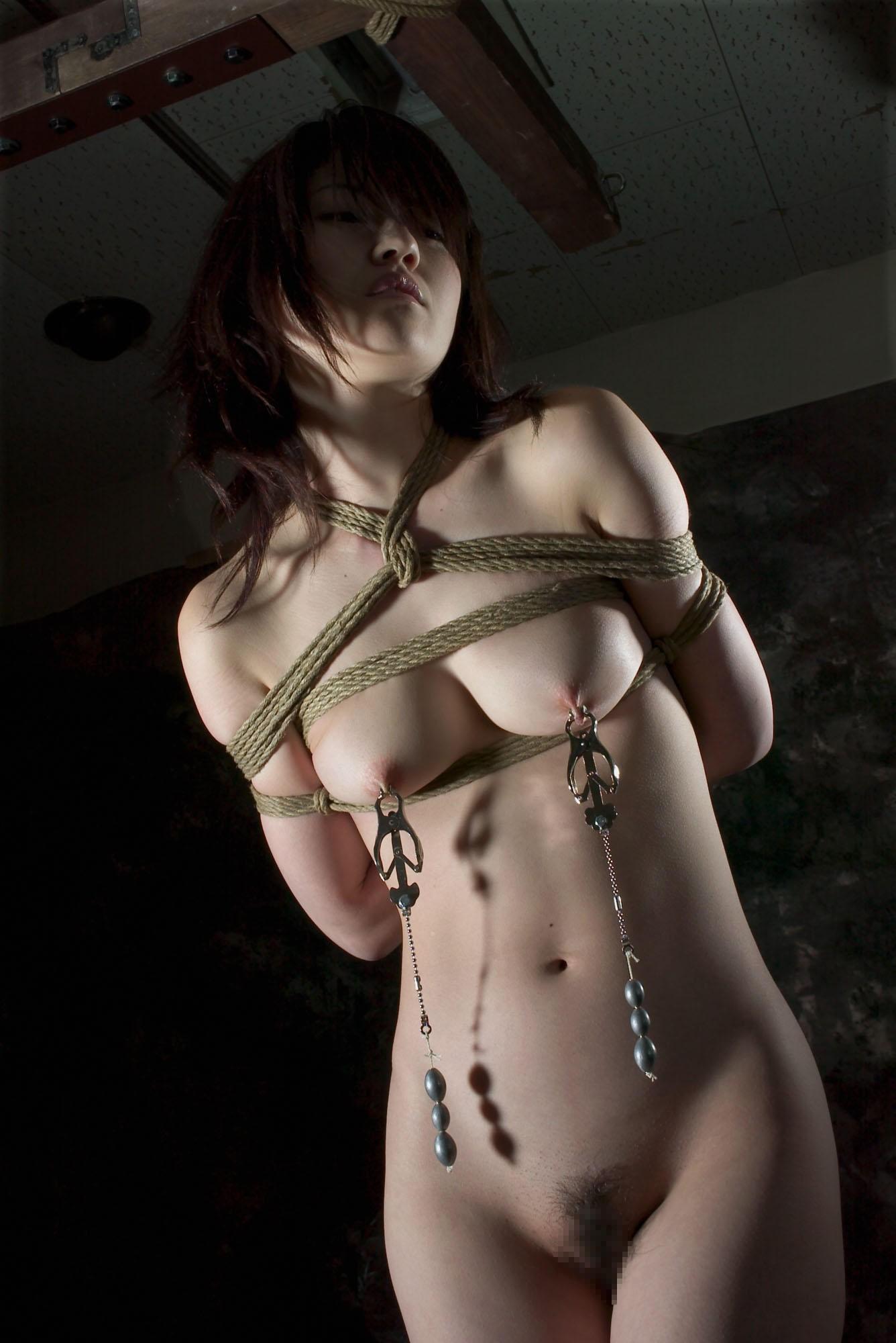 【巨乳SMエロ画像】いつもより大きい…いや最初からw巨乳を際立たせる縛り方www 14