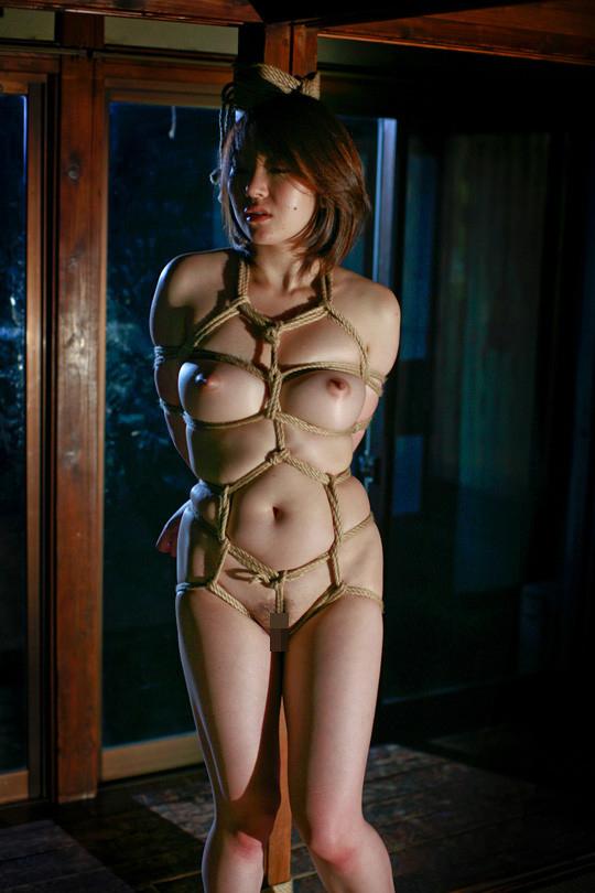 【SMエロ画像】際立ったムッチリ肉が卑猥…と思えたら才覚アリな緊縛女体www 19