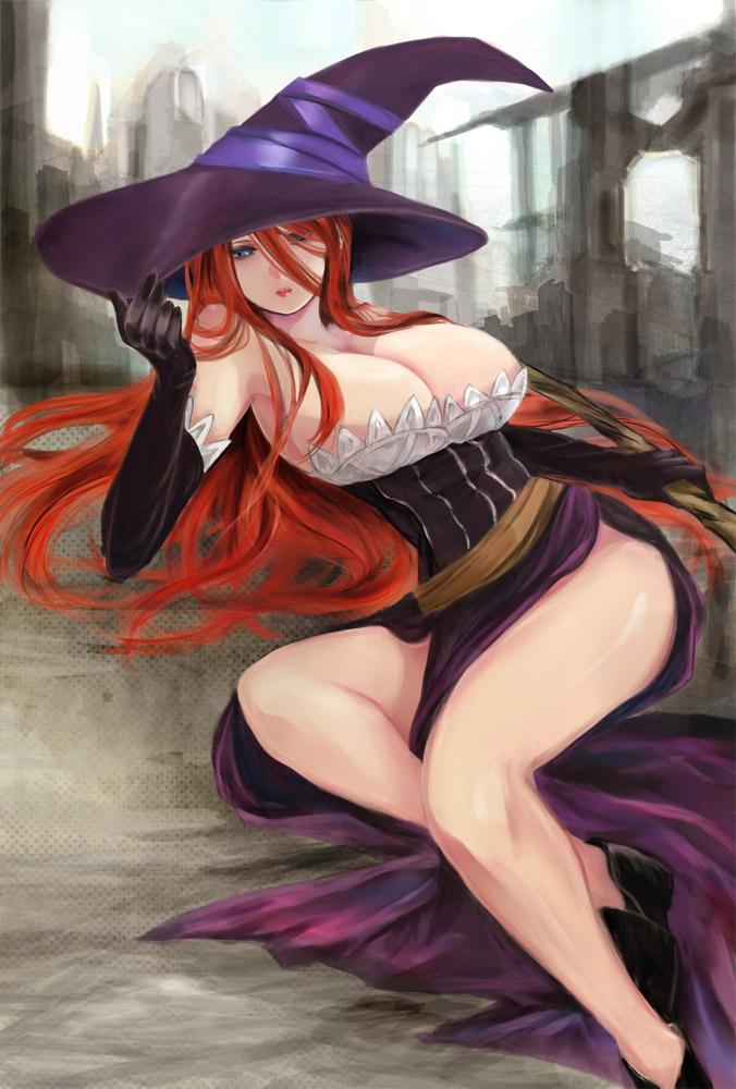 【二次エロ画像】ハメられたら魔法も通じないwヤリたくなる体の魔女とその痴態www 09