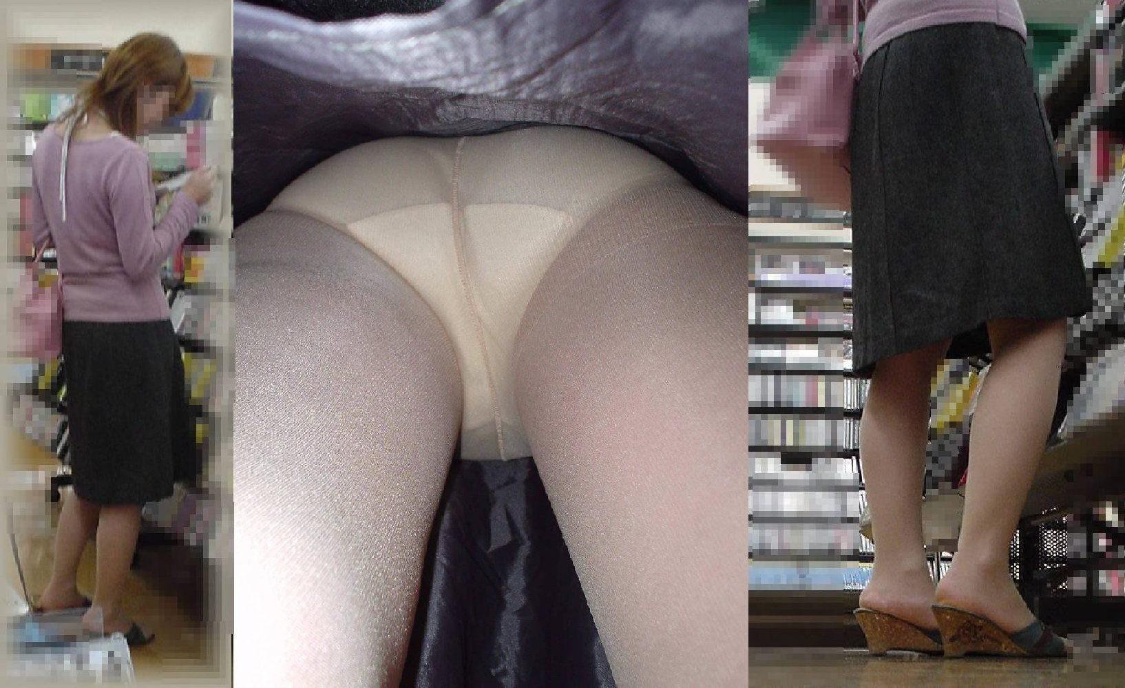 【パンチラエロ画像】技術高い方々のスカート潜行!プロだから成せる逆さ撮りwww 01