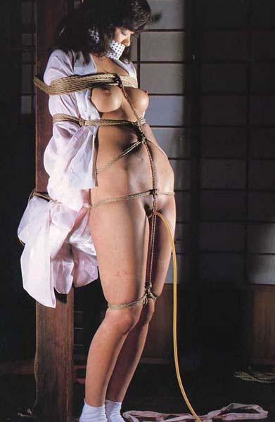 【SMエロ画像】イヤらしくも奥ゆかしい…拘束調教される和服美人たちwww 14