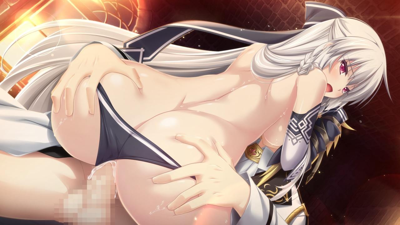 【二次エロ画像】横乳と結合部が激しく卑猥w美少女の騎乗位FUCKを尻から眺めるwww 03