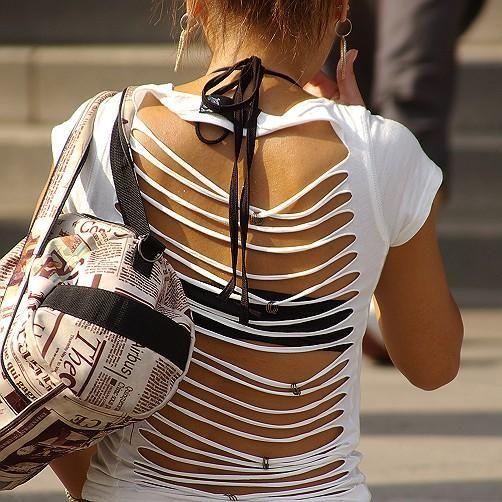【私服エロ画像】背中出しは既に常識w夏場は露出を自重しないギャル私服www 13