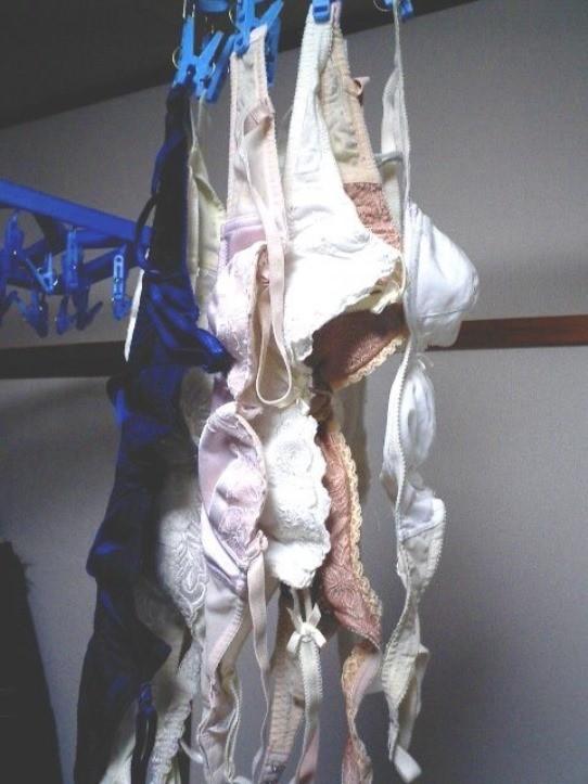 【下着フェチエロ画像】一体どんな人がコレを…持ち主が気になる洗濯後の下着www 08