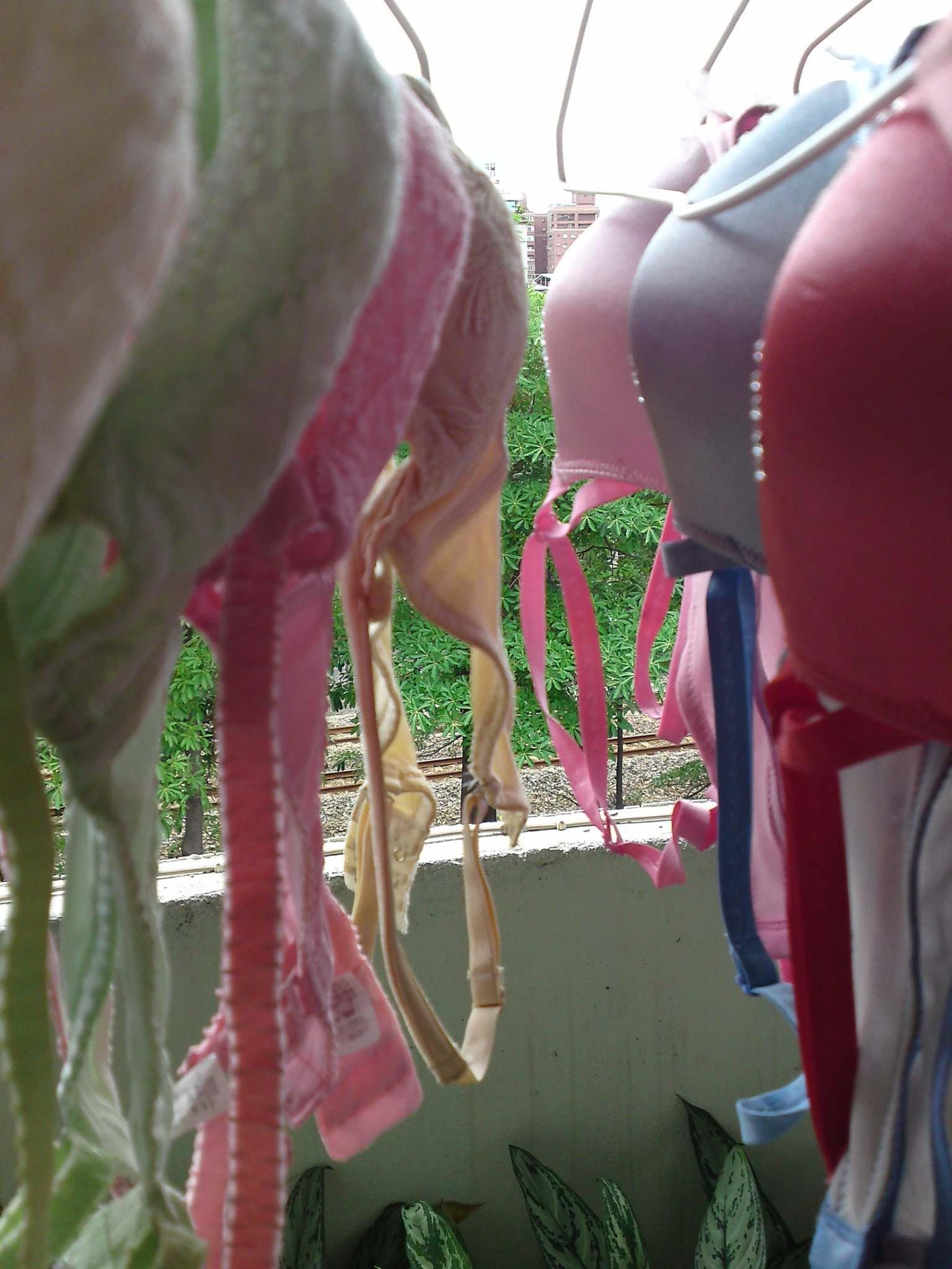 【下着フェチエロ画像】一体どんな人がコレを…持ち主が気になる洗濯後の下着www 14