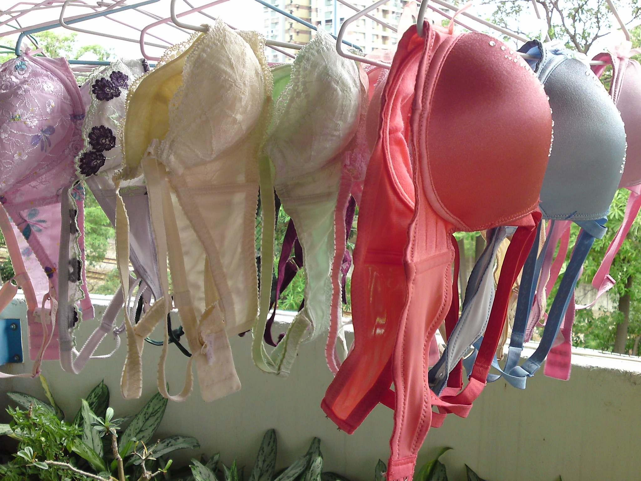 【下着フェチエロ画像】一体どんな人がコレを…持ち主が気になる洗濯後の下着www 19