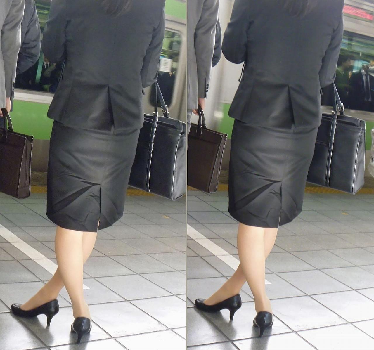 【着衣尻エロ画像】タイト最高!お尻の大きさ形が丸判りになる正装だなんてwww 02