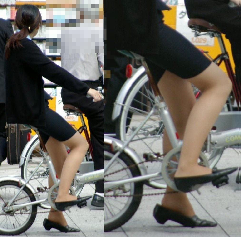 【着尻エロ画像】サドルは俺だ!潰れるほどに乗られてしまいたい自転車上のお尻www 01