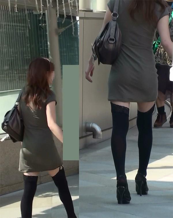 【ニーソエロ画像】生脚減ってもこっちが増えるwムチ股そそる絶対領域の美脚www 01