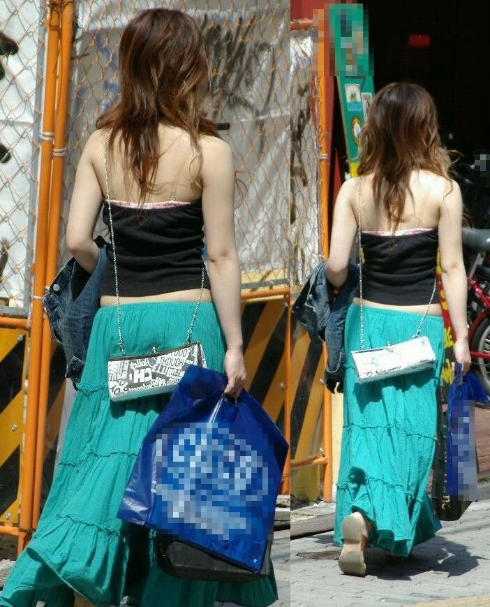 【私服エロ画像】綺麗な背中…エッチなマークを付けてやりたくなる後ろ丸見えギャルの街撮りwww 20
