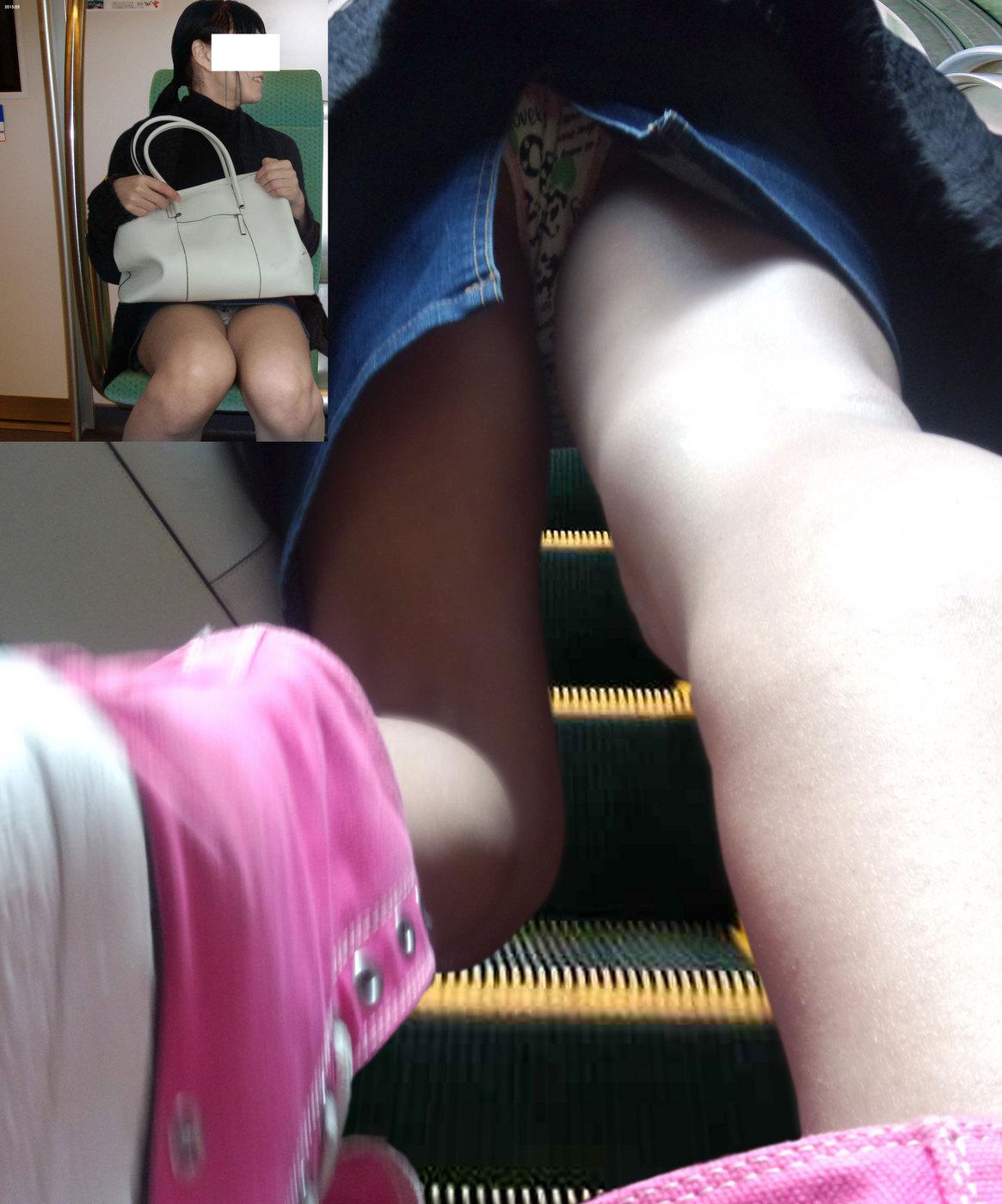 【パンチラエロ画像】ボケッと歩くミニスカ女子に対して撮る方は執念全開でパンチラ隠撮www 04