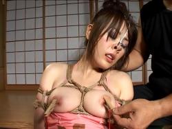 【SMエロ画像】豊満な程に縛り応えがw拘束でよりイヤらしく巨乳のM女www 04