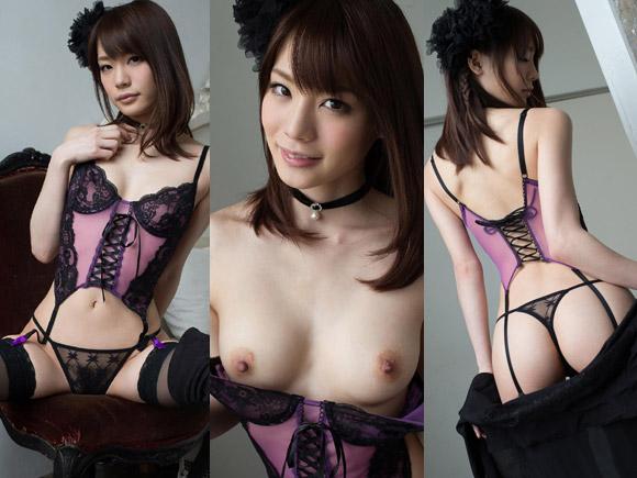 今一番かわいいAV女優 鈴村あいりのセクシーランジェリーとTバック。画像×42