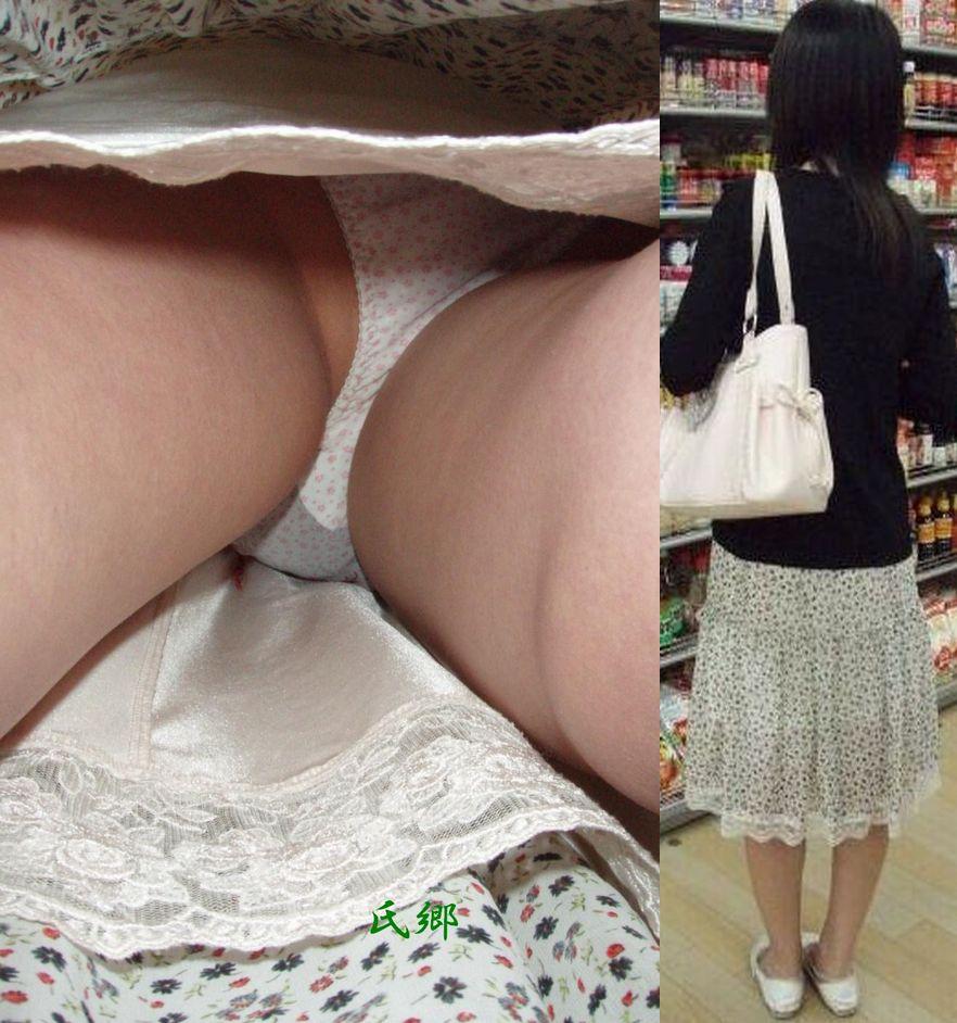 【パンチラエロ画像】香り漂いそうなスカートの中…生々しい生パン逆さ撮りwww 07