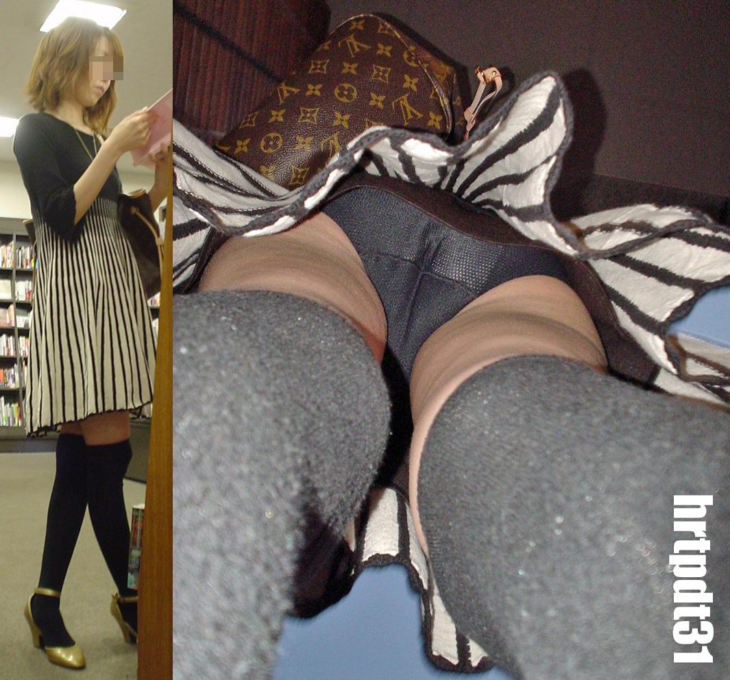 【パンチラエロ画像】香り漂いそうなスカートの中…生々しい生パン逆さ撮りwww 27