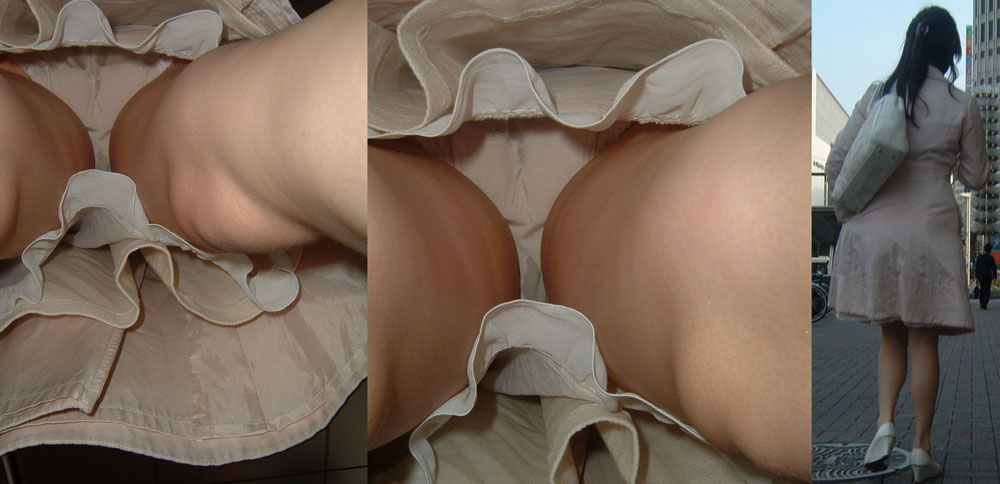 【パンチラエロ画像】一体いつそんな汚れが…色付きは特に気になる染みパンチラwww 12