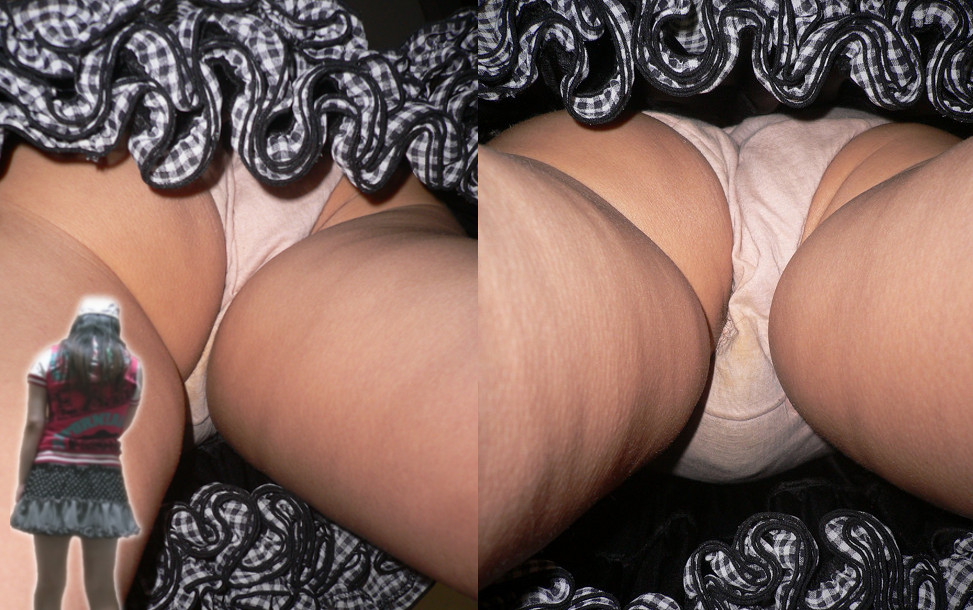 【パンチラエロ画像】一体いつそんな汚れが…色付きは特に気になる染みパンチラwww 21