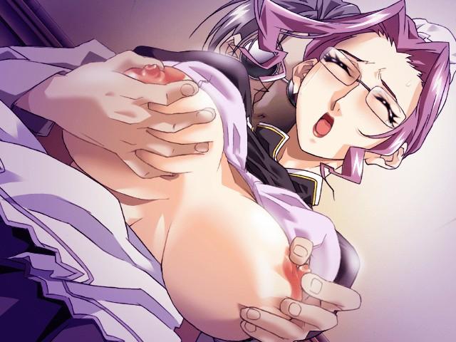 【二次エロ画像】このデカさと前向きで激柔とか反則w揉まれまくり美少女の爆乳www 07