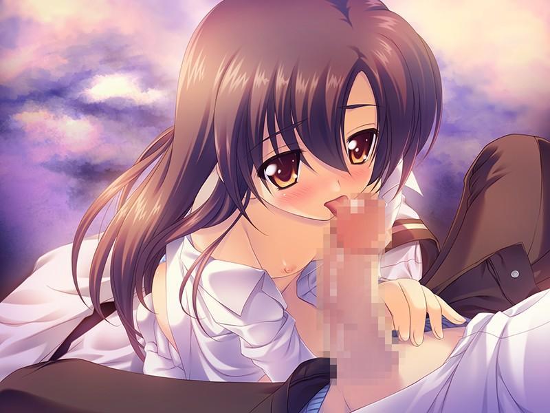 【二次エロ画像】口に入らないデカさでも…入れるためにしゃぶる美少女の口淫www 10