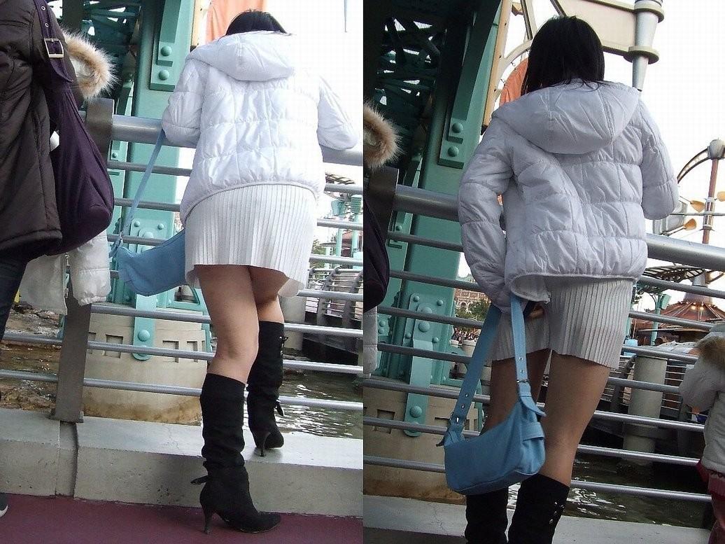 【美脚エロ画像】寒くても生脚の大人はいる!ブーツで絶対領域作った皆さんwww 26