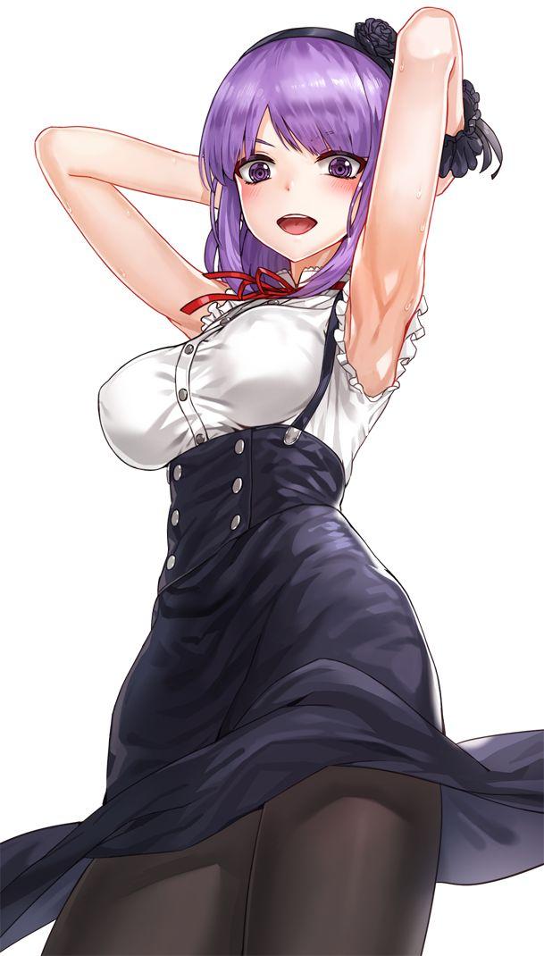 【二次エロ画像】おっぱい引き立てる重要な存在でもあるw美少女の綺麗な腋下www 10