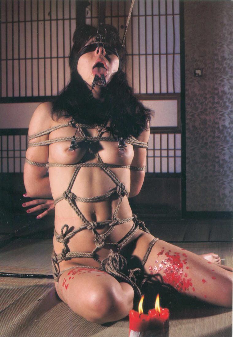 【SMエロ画像】熱い!でも逃げられない…緊縛M女への熱蝋責め調教www 14