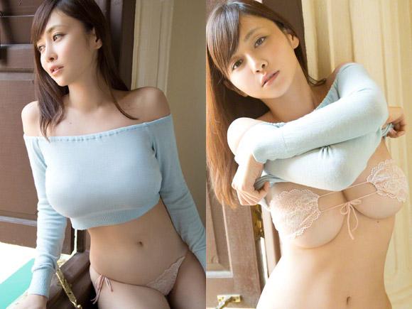 杉原杏璃(33) 巨大な胸で服が伸びまくりな着衣巨乳画像×29