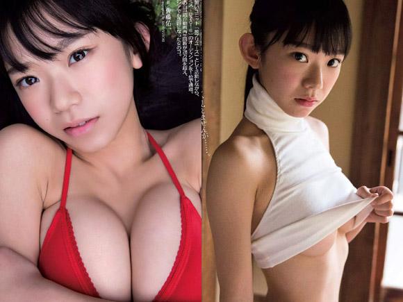 噂の合法ロリ巨乳 長澤茉里奈(20)のグラビア画像