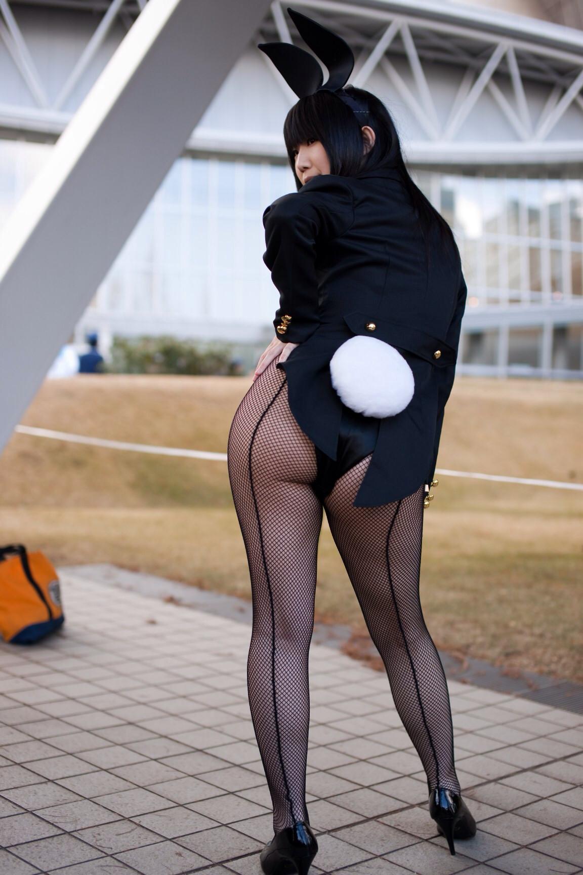 【コスプレエロ画像】尻尾のポンポンは必須wなければつけたいバニーさんのエロ尻www 19