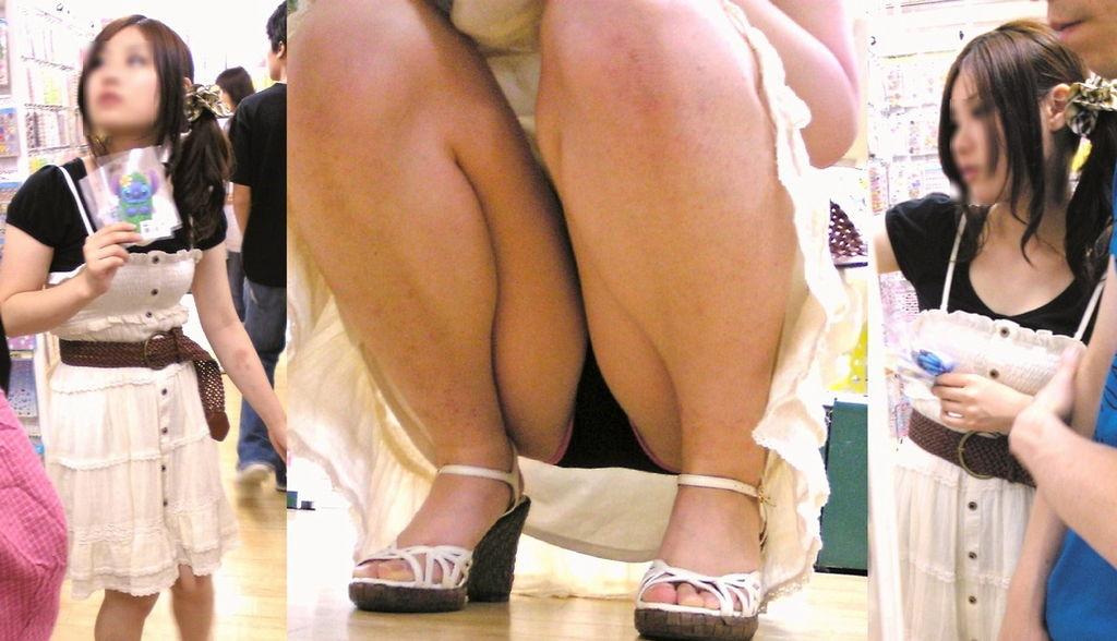 【パンチラエロ画像】地べた女子多数w花見のシーズンに期待の座りチラ女子www 04