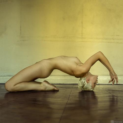 【軟体エロ画像】無理な体勢でワレメを主張w体位で試したい軟体ポーズwww 14