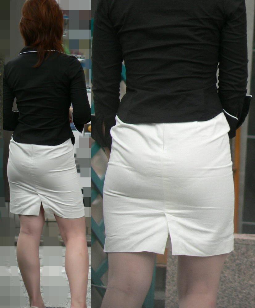 【着尻エロ画像】たまにキツそうに履く人もw巨尻を際立たせる大人のタイトwww 14