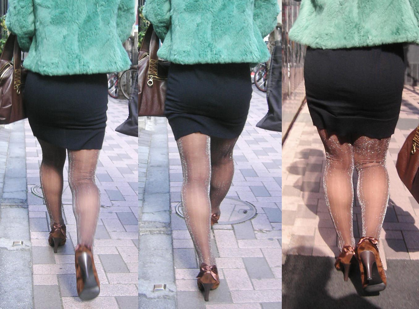 【着尻エロ画像】たまにキツそうに履く人もw巨尻を際立たせる大人のタイトwww 23