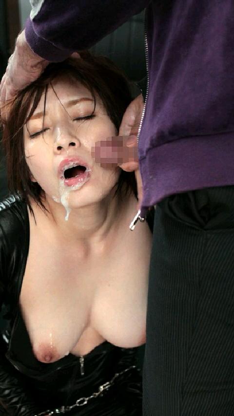 【顔射エロ画像】汚いメイクで失礼w顔射にまみれた女の子たちのアヘ顔www 07