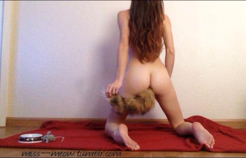 【コスプレエロ画像】これが犬になるという事さ…プラグをケツに刺して尻尾www 07