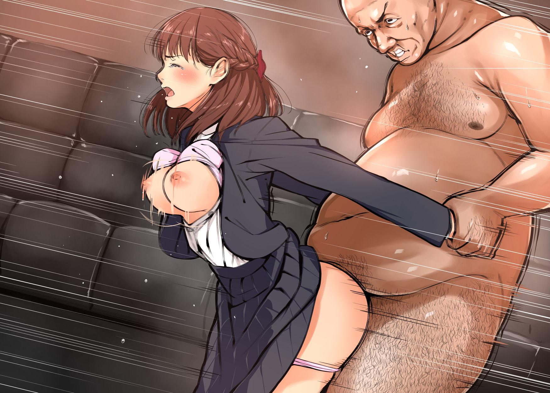 【二次エロ画像】脂と臭いが無理!キモ男にヤられて涙目な美少女たちwww 07