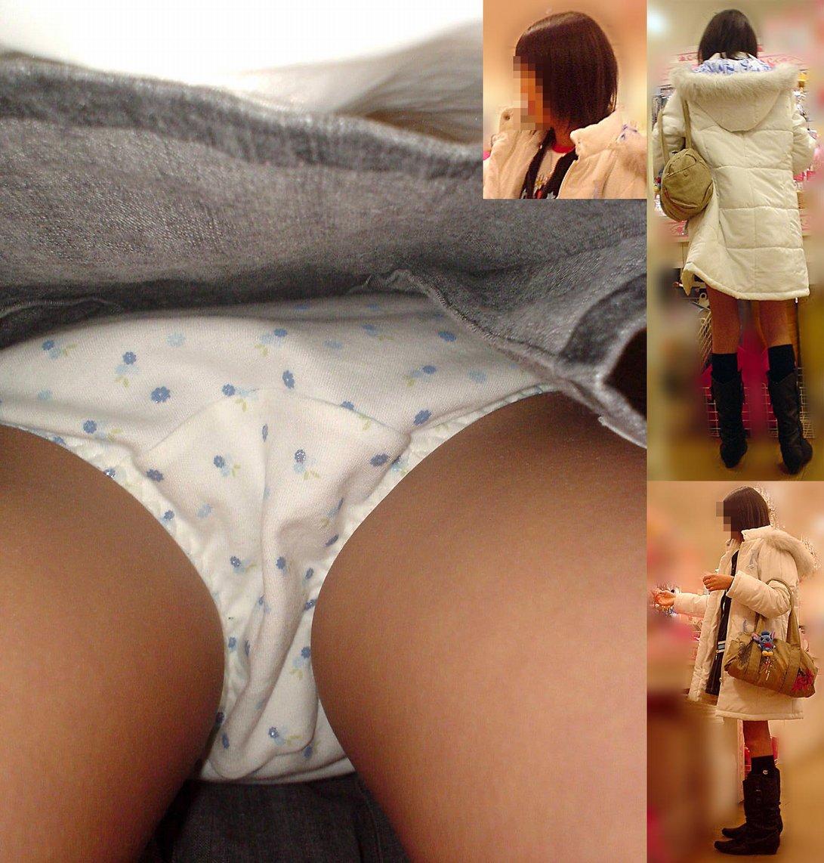 【パンチラエロ画像】履いてるパンツが本当の性格!真実を暴く逆さ撮りwww 09