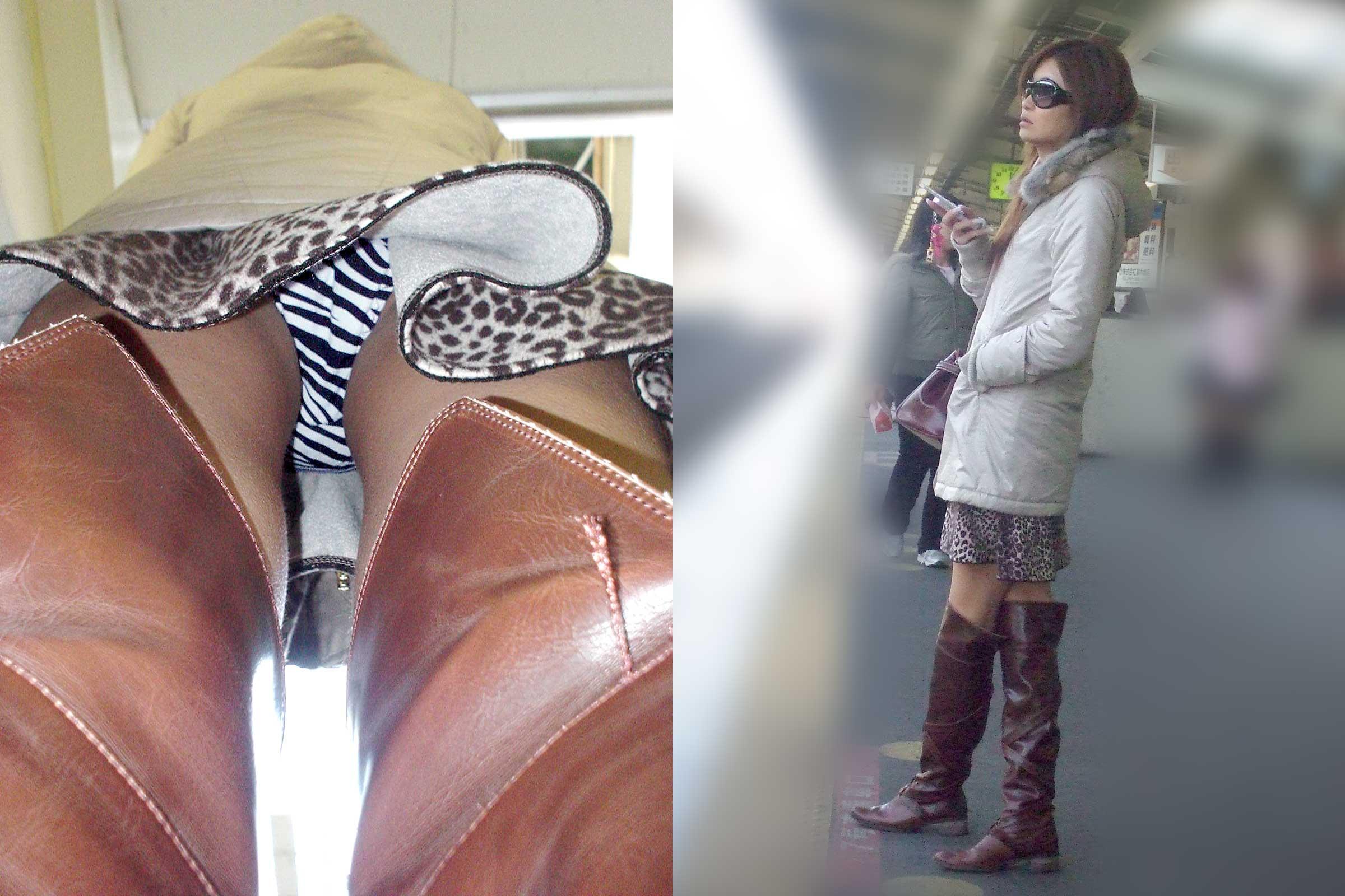 【パンチラエロ画像】履いてるパンツが本当の性格!真実を暴く逆さ撮りwww 11