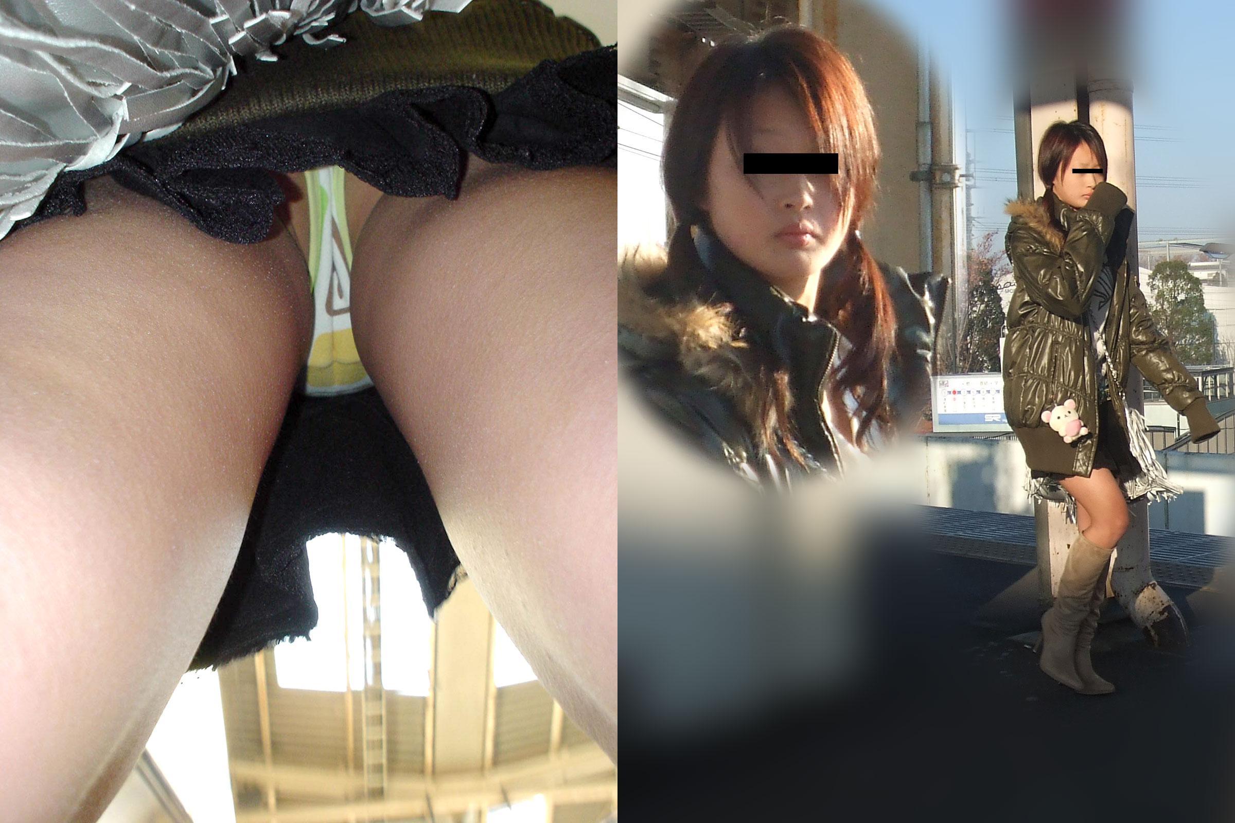 【パンチラエロ画像】履いてるパンツが本当の性格!真実を暴く逆さ撮りwww 16