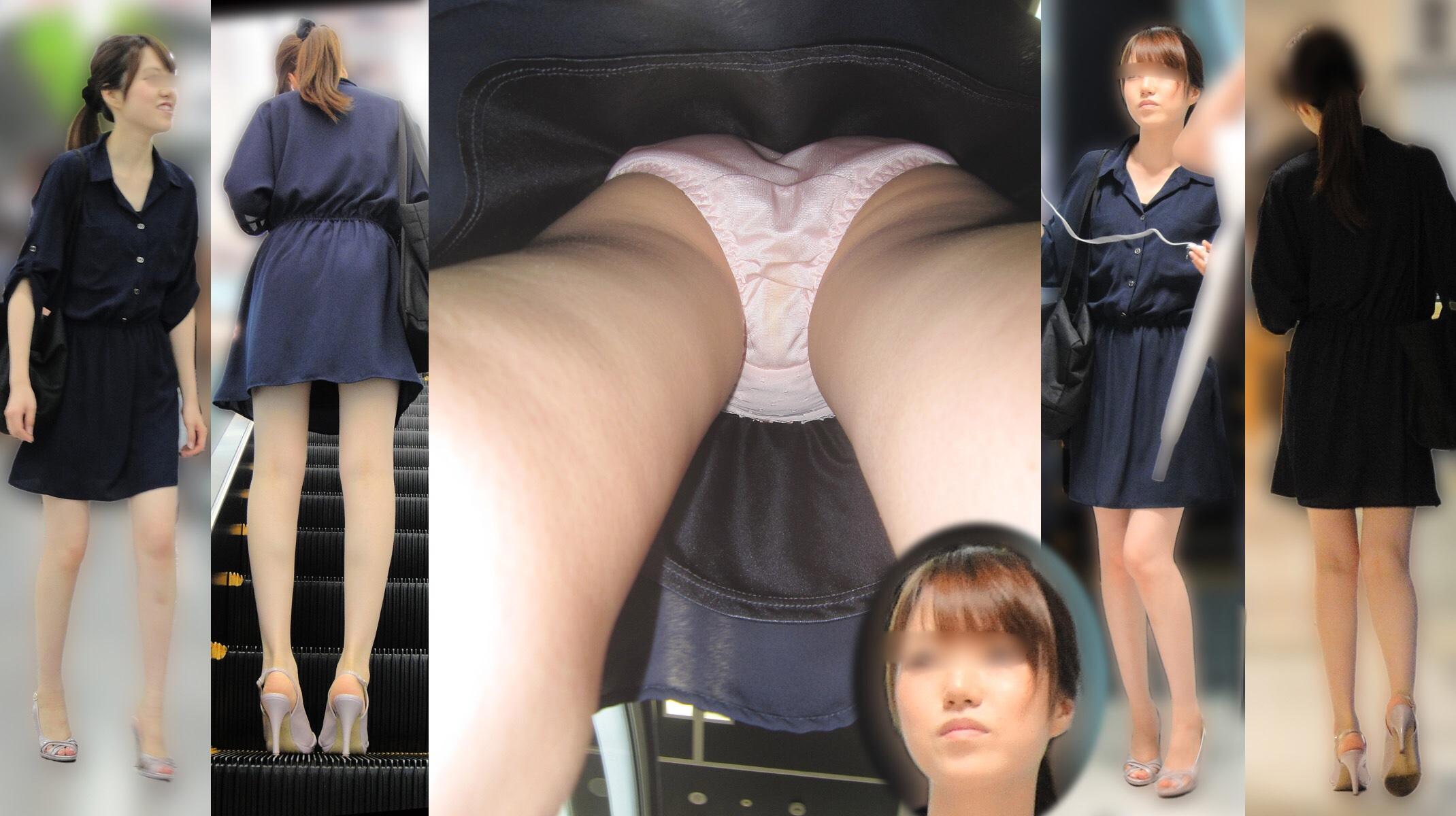 【パンチラエロ画像】履いてるパンツが本当の性格!真実を暴く逆さ撮りwww 20