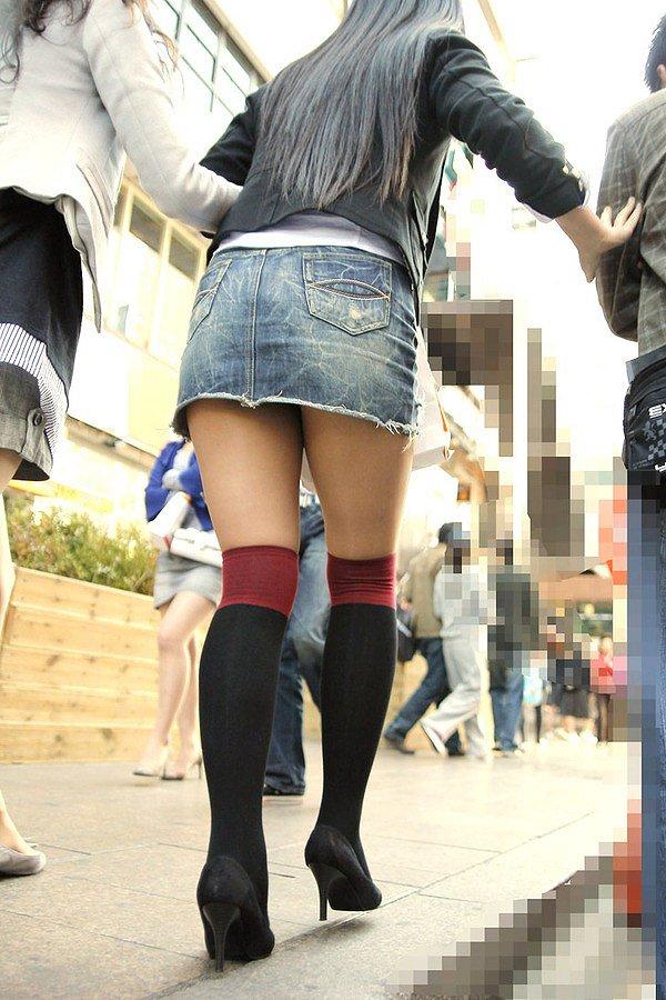 【美脚エロ画像】太くても細くても好きwミニスカから見える美脚追跡! 20