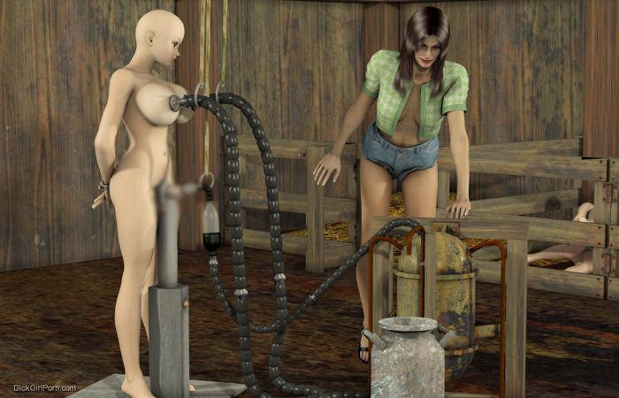 【二次エロ画像】この技術は無駄!?3Dでふたなり娘を性的調教www 001