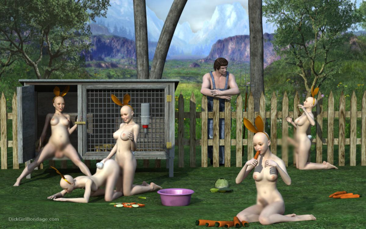 【二次エロ画像】この技術は無駄!?3Dでふたなり娘を性的調教www 17