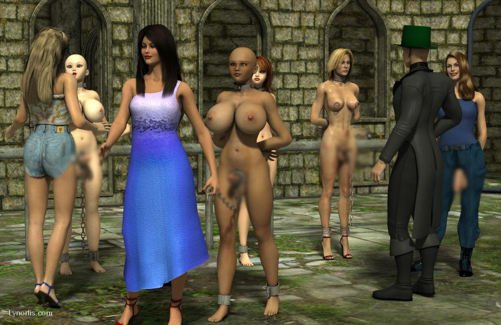 【二次エロ画像】この技術は無駄!?3Dでふたなり娘を性的調教www 24
